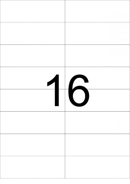 eza-print - A4, weiß - 105,0 x 37,125 mm, 100 Blatt