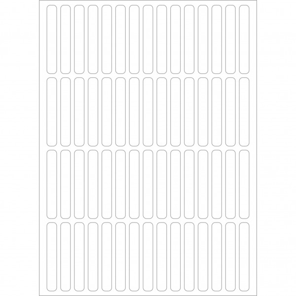 Herma Büropackung, weiß, 5 x 35 mm, permanent haftend