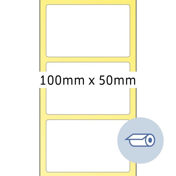 HERMA Rollen-Etiketten, Thermotransfer, 100 x 50 mm, weiß seidenmatt