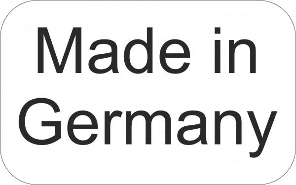 """Haftetiketten, """"Made in Germany"""", 16x10mm, Schreibpapier weiß, permanent haftend,"""
