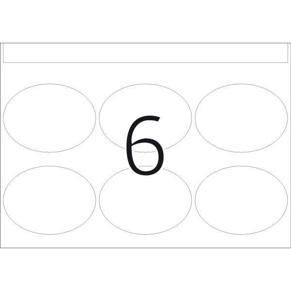 DP 1 Druckerpackung, weiß, oval, 40 x 54 mm
