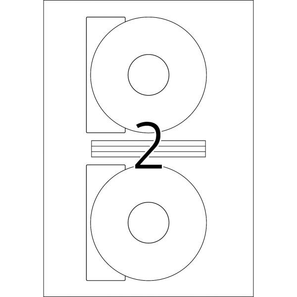 HERMA Etiketten, A4 - Ø 116 mm, 25 Blatt, weiß, blickdicht, CD Etiketten