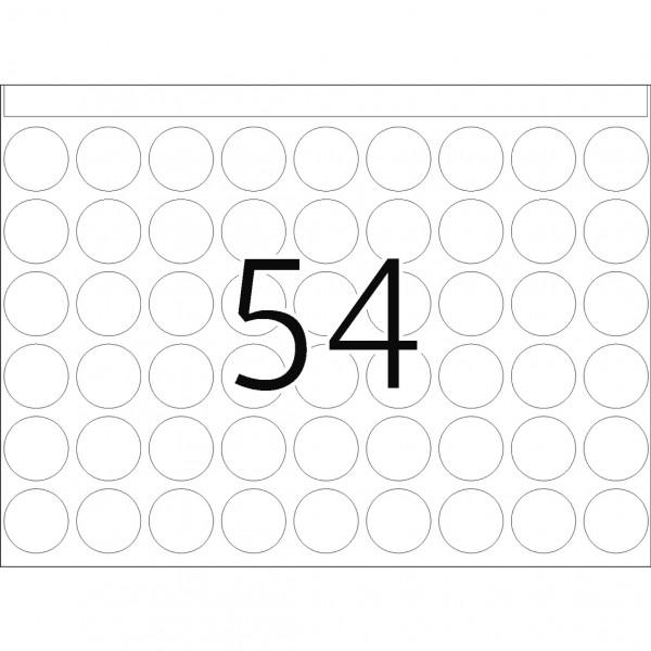 DP 1 Druckerpackung, weiß, 16 mm Ø