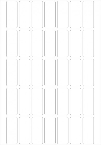 Herma Büropackung, weiß / farbig, 13 x 40 mm, 32 Blatt