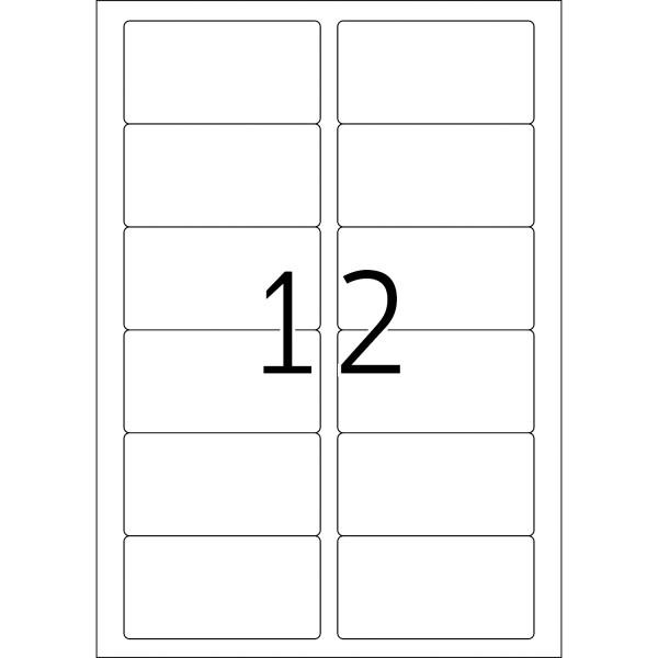 HERMA Special Inkjet, A4 - 88,9 x 46,6 mm, weiß