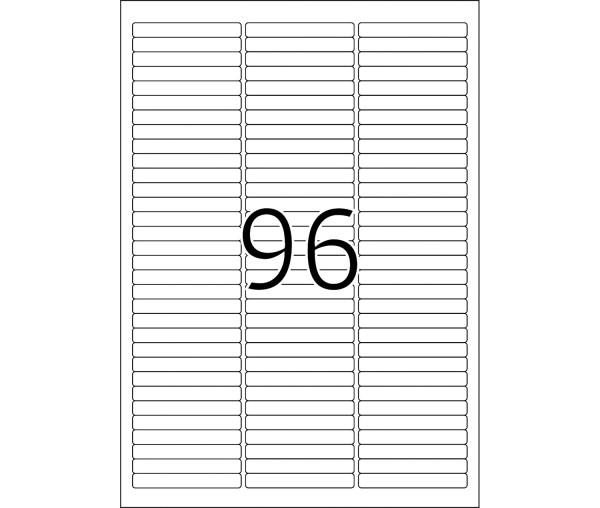 HERMA Etiketten, A4 - 63,5 x 8,5 mm, 25 Blatt, weiß, Movables ®, ablösbar