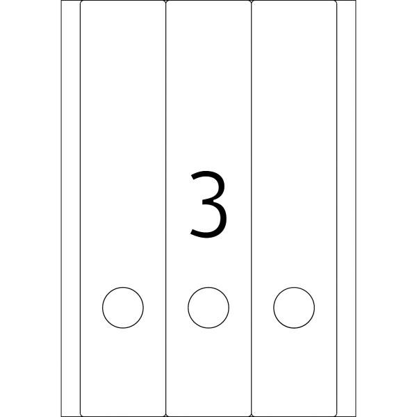 HERMA Etiketten, A4 - 61,0 x 297,0 mm, lange Ordnerrücken, breit, farbig