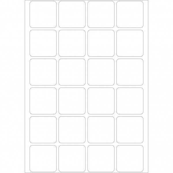 Herma Büropackung, weiß, 24 x 24 mm, permanent haftend