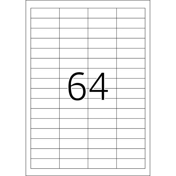 HERMA Etiketten, A4 - 48,3 x 16,9 mm, 200 Blatt, weiß