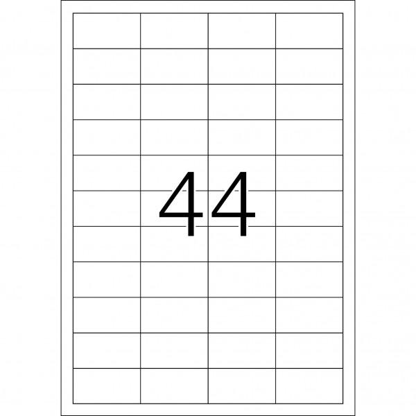 HERMA Etiketten, A4 - 48,3 x 25,4 mm, Polyesterfolie transparent matt