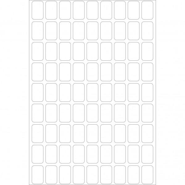 Herma Büropackung, weiß, 10 x 16 mm, permanent haftend