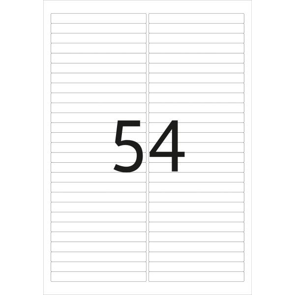 HERMA Etiketten, A4 - 96,0 x 10,0 mm, 25 Blatt, weiß, Movables ®, ablösbar