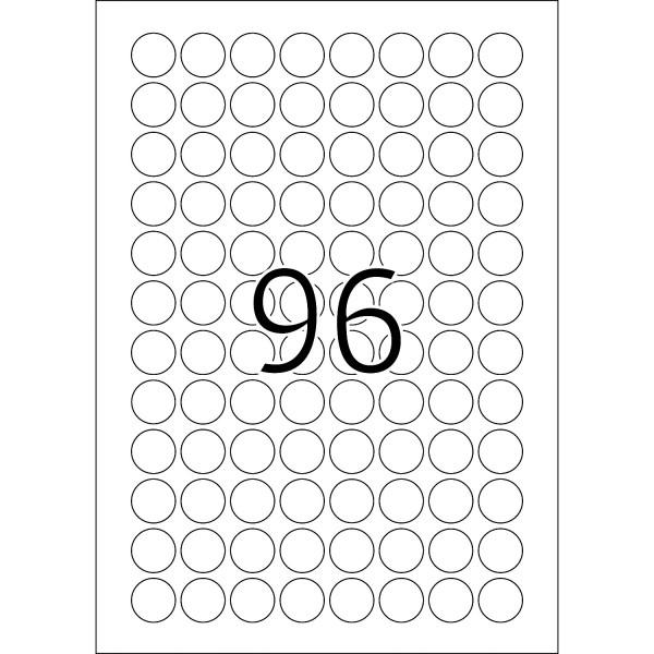 HERMA Special, A4 - Ø 20 mm, 25 Blatt, weiß, Movables ®, ablösbar