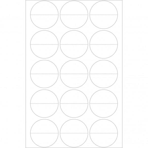 Herma Büropackung, Verschlussetikett perforiert, transparent matt, 32 mm Ø, permanent haftend
