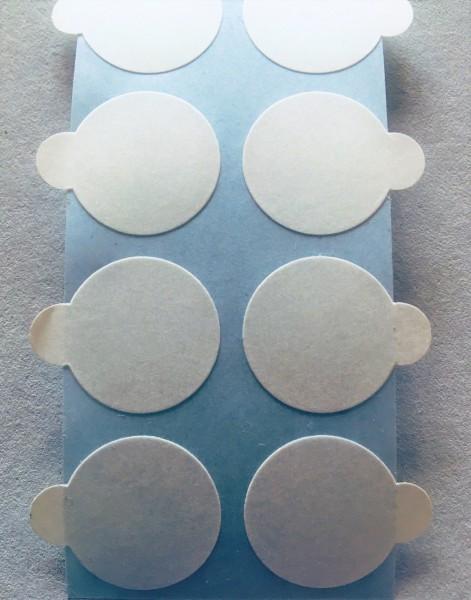 Doppelklebepunkte, 20 mm mit Anfasslasche