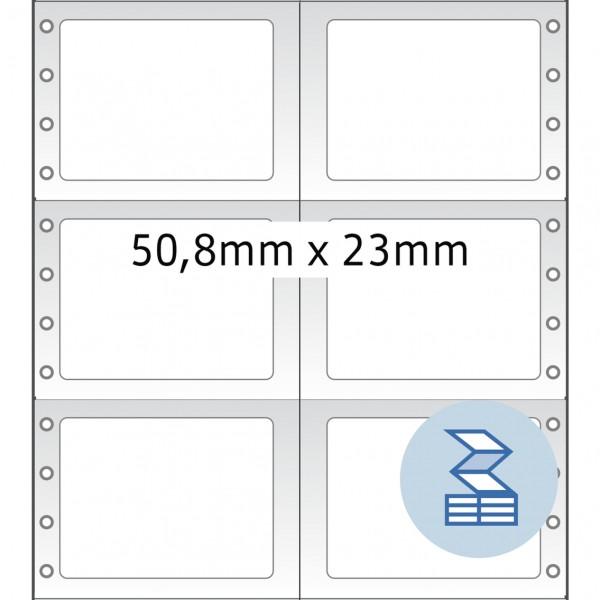 HERMA Lochrandetiketten, 50,80 x 23,00 mm, weiß