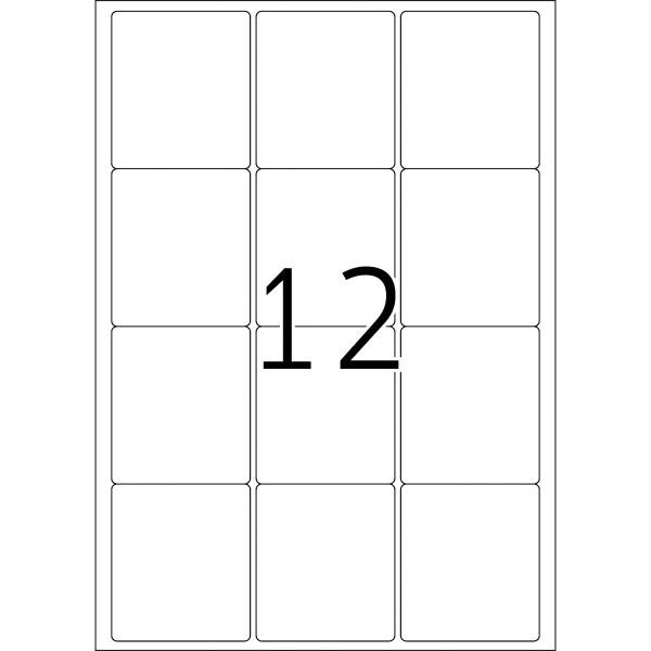HERMA Etiketten, A4 - 63,5 x 72,0 mm, 100 Blatt, weiß