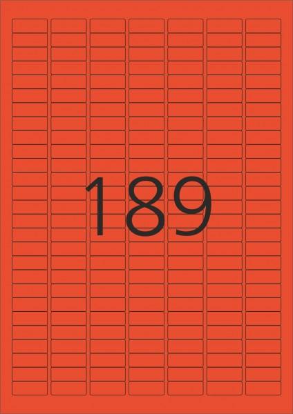 HERMA Etiketten, A4 - 25,4 x 10,0 mm, 100 Blatt, rot