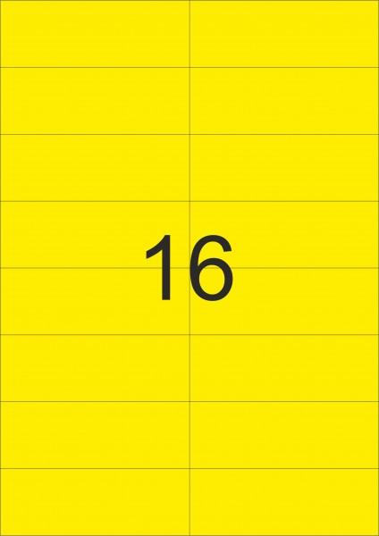 HERMA Etiketten, A4 - 105,0 x 37,0 mm, 20 Blatt, farbig