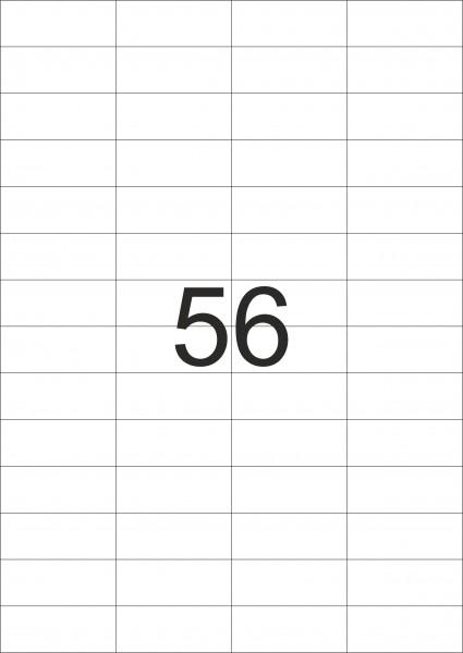 eza-print - A4,weiß - 52,5 x 21,2 mm, 500 Blatt