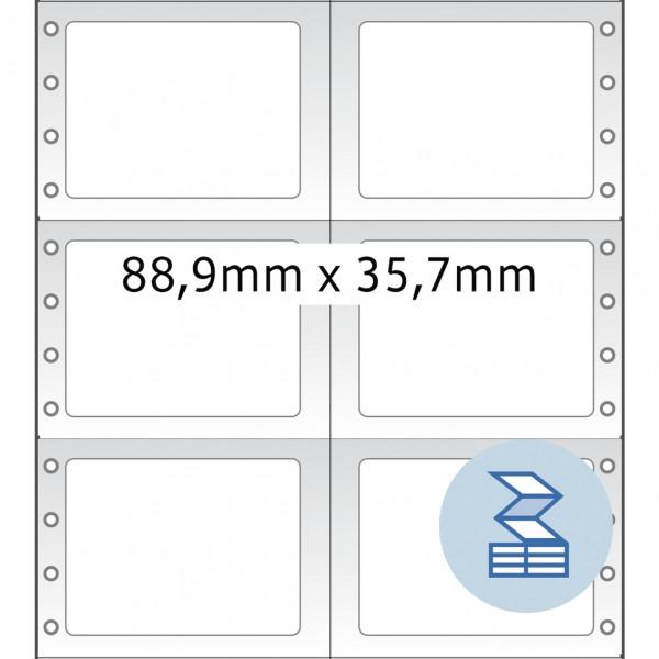 HERMA Lochrandetiketten, 88,90 x 35,70 mm, weiß