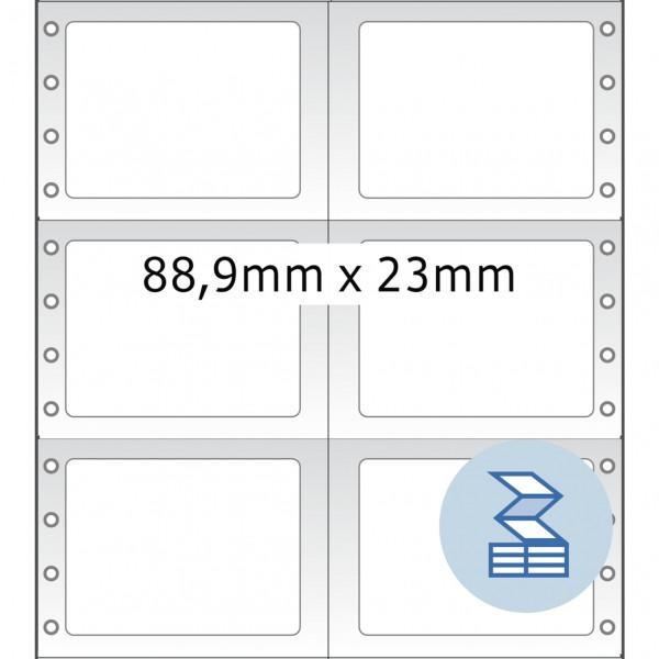 HERMA Lochrandetiketten, 88,90 x 23,00 mm, weiß