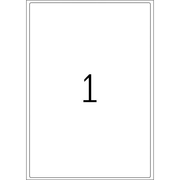 HERMA Etiketten, A4 - 199,6 x 289,1 mm, 100 Blatt, naturweiß, Recyclingpapier