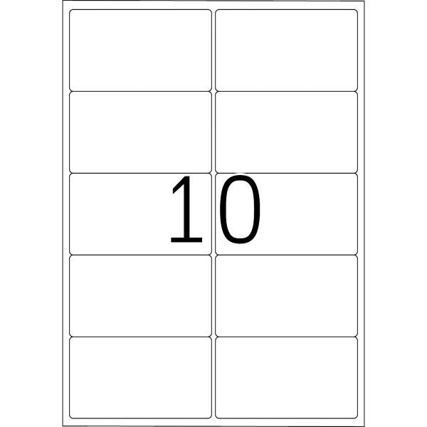 HERMA Etiketten, A4 - 99,1 x 57,0 mm, 100 Blatt, weiß