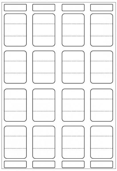Duplex-Etikettenblätter, A4, 45,72 x 63 mm, 2 x permanent haftend