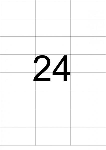 eza-print - A4, weiß - 70,0 x 37,125 mm, 100 Blatt