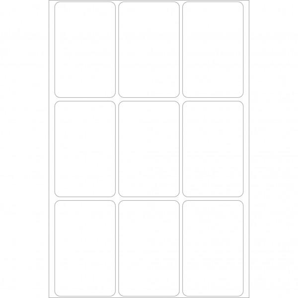 Herma Büropackung, weiß / farbig, 34 x 53 mm , permanent haftend