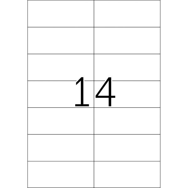 HERMA Etiketten, A4 - 105,0 x 42,3 mm, 25 Blatt, weiß
