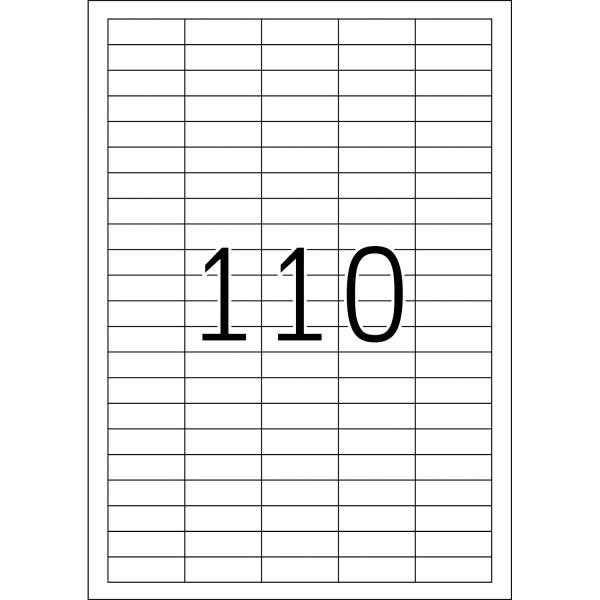 HERMA Etiketten, A4 - 38,1 x 12,7 mm, 25 Blatt, weiß, Movables ®, ablösbar