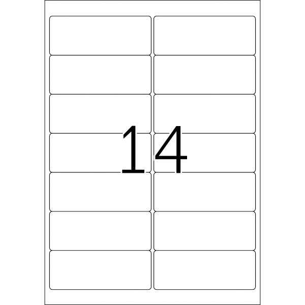 HERMA Etiketten, A4 - 99,1 x 38,1 mm, 100 Blatt, weiß, Movables ®, ablösbar