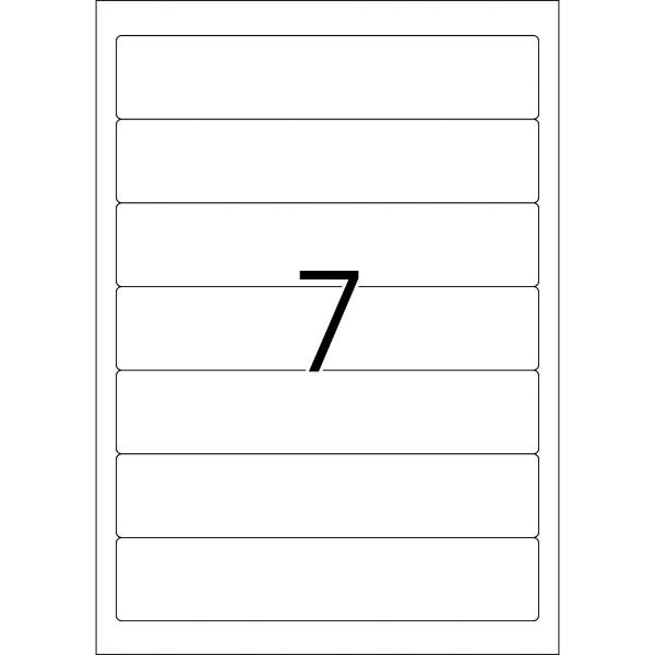HERMA Etiketten, A4 - 192,0 x 38,0 mm, kurze Ordnerrücken, schmal, naturweiß, Recyclingpapier
