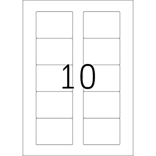 HERMA Etiketten, A4 - 70,0 x 50,8 mm, 25 Blatt, weiß, ZIP-Disketten-Etiketten