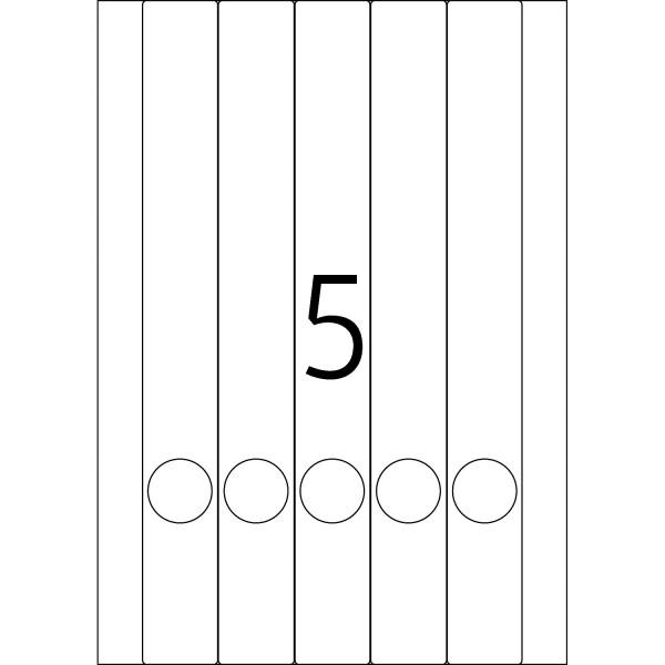HERMA Etiketten, A4 - 34,0 x 297,0 mm, lange Ordnerrücken, schmal, weiß