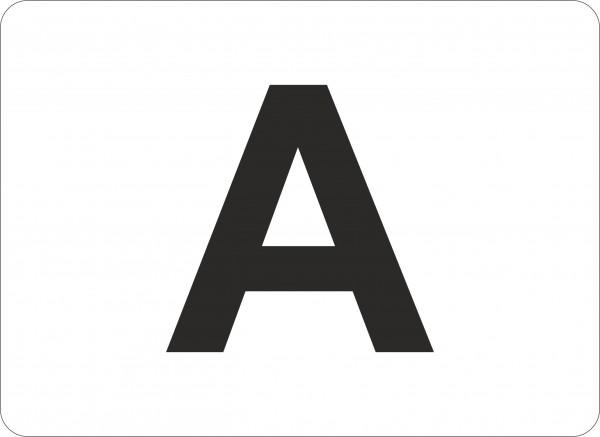 Haftetiketten, Buchstaben von A-Z, 22x16 mm