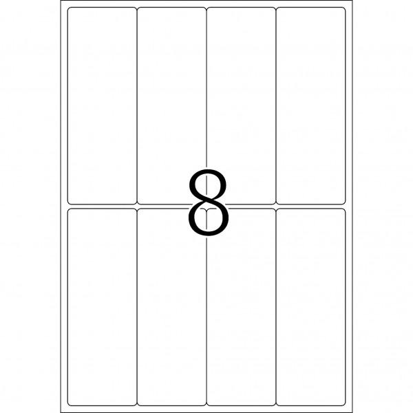 HERMA Etiketten, A4 - 50,0 x 142,0 mm, 25 Blatt, weiß