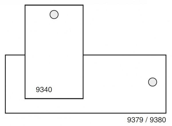 neutrale Anhängeetiketten 30 x 40 mm, weiße Polyester-Verbundfolie