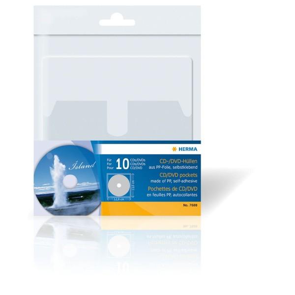 CD/DVD-Hüllen, PP-Folie, selbstklebend