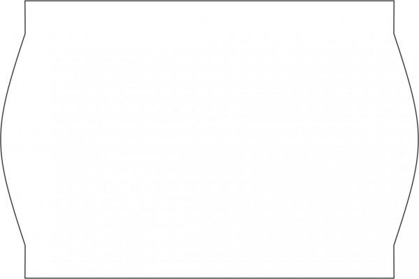Wellenrand-Haftetiketten, 26 x 16 mm, weiß, festhaftend