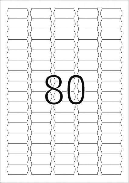 HERMA Etiketten, A4 - 35,6 x 16,9 mm, Sonderform, 25 Blatt, weiß, Movables ®, ablösbar