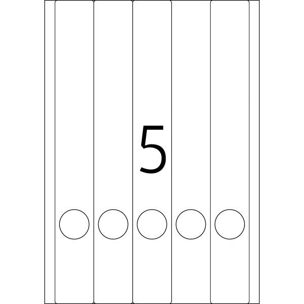 HERMA Special Inkjet, A4 - 38,0 x 297,0 mm, Ordneretiketten, weiß