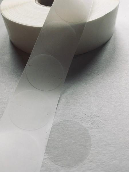 Haftpunkte einseitig klebend, 30 mm, mit Querperforaton