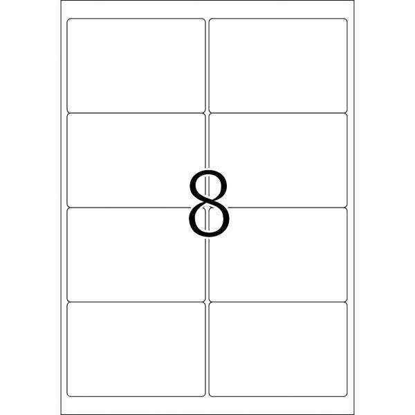 HERMA Etiketten, A4 - 99,1 x 67,7 mm, 25 Blatt, weiß, blickdicht, Movables ®, ablösbar