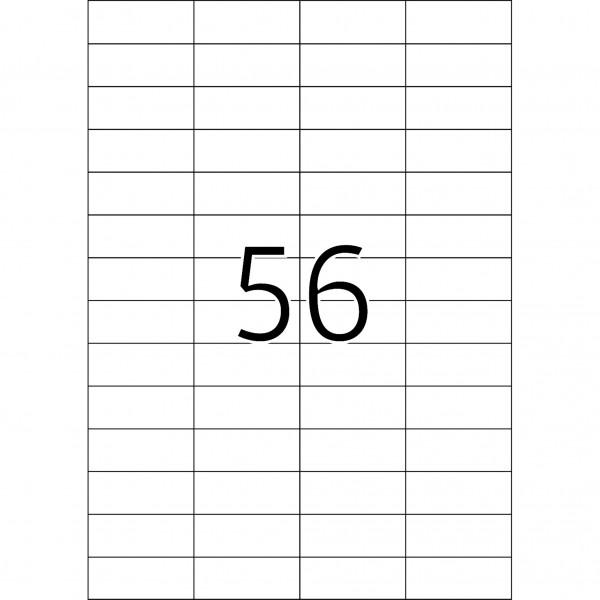 HERMA Etiketten, A4 - 105,0 x 42,3 mm, 25 Blatt, weiß, Movables ®, ablösbar