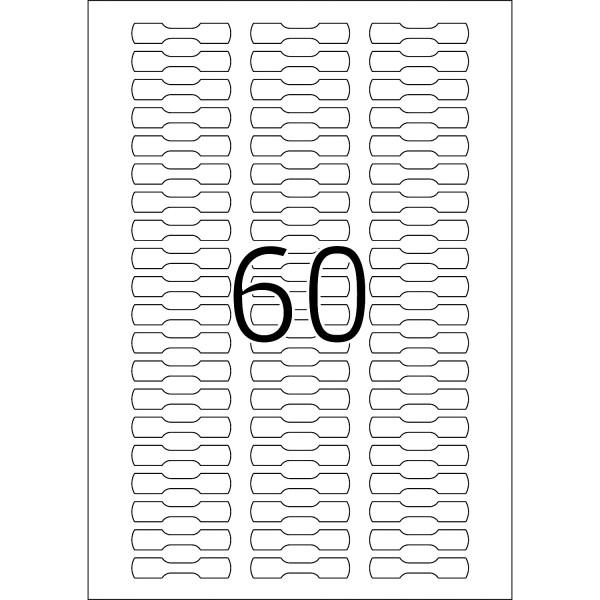 HERMA Etiketten, A4 - 49,0 x 10,0 mm, Ringetiketten, weiß blickdicht