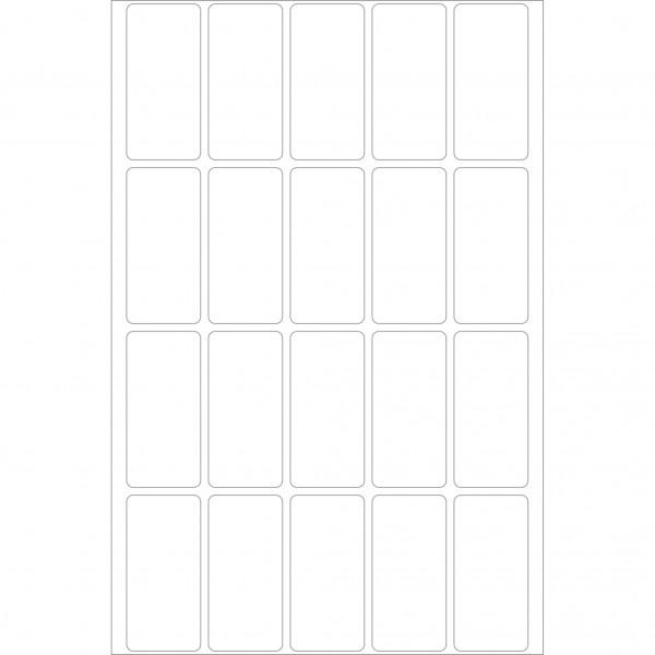 Herma Büropackung, weiß, 19 x 40 mm, permanent haftend