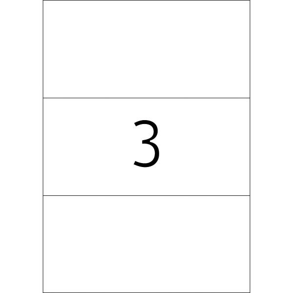 HERMA Etiketten, A4 - 210,0 x 99,0 mm, 100 Blatt, weiß